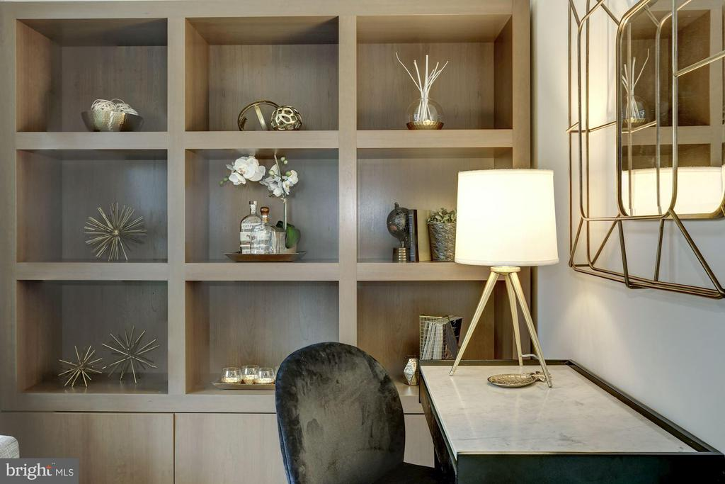 Bedroom 3 / Den has focal built in shelving - 2425 L ST NW #203, WASHINGTON