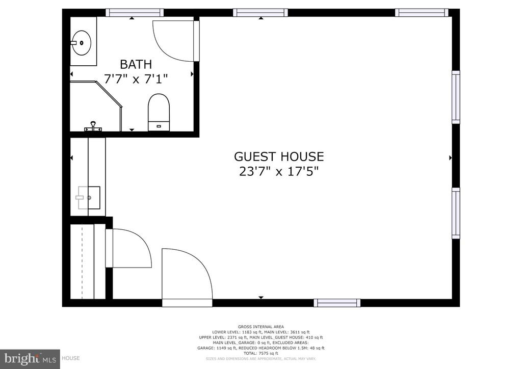 Tenant / Guest / Care Takers Floor Plan - 12466 KONDRUP DR, FULTON