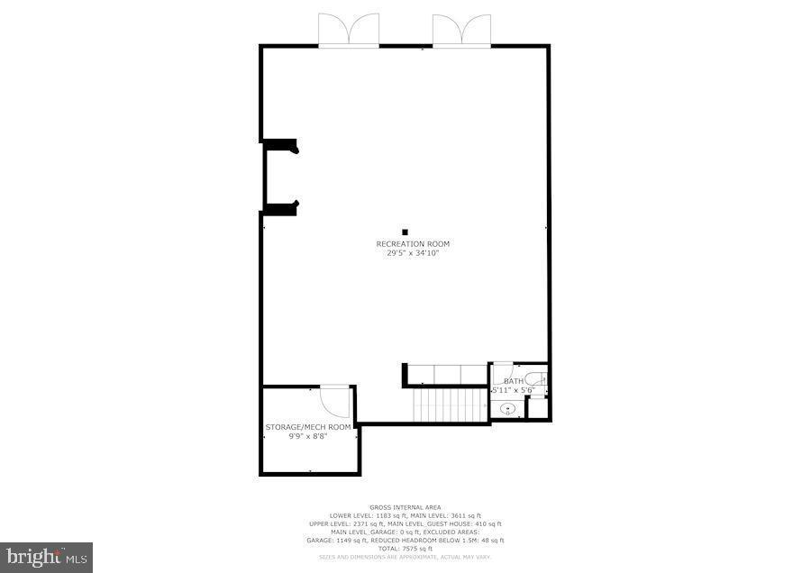 Lower Level Walk-Out Floor Plan - 12466 KONDRUP DR, FULTON