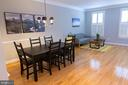 Living and Dining Rooms makes this flexible styles - 147 HERNDON MILL CIR, HERNDON