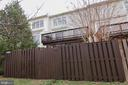 Back fence - 147 HERNDON MILL CIR, HERNDON