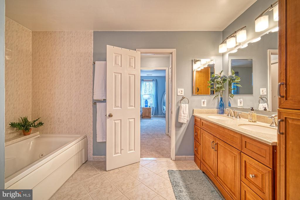 Master bathroom with separate tub and shower - 12224 PINE PARK CT, FAIRFAX