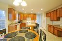Eat-In Kitchen with Island and Great Counterspace - 10026 WILLOW RIDGE WAY, SPOTSYLVANIA