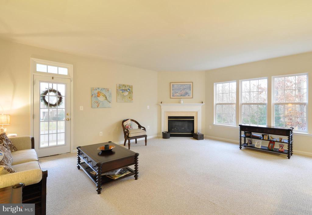 Oversized, Open Family Room with Gas Fireplace - 10026 WILLOW RIDGE WAY, SPOTSYLVANIA