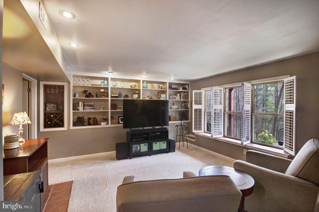 Basement level family room with lake view - 6765 BALMORAL RDG, NEW MARKET