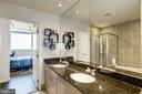 Granite-top double vanity w/storage - 3409 WILSON BLVD #602, ARLINGTON