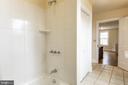 One of two full baths upstairs - 3374 TWYMANS MILL RD, ORANGE