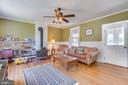 Family room with wood burning stove - 308 KING ST, LEESBURG