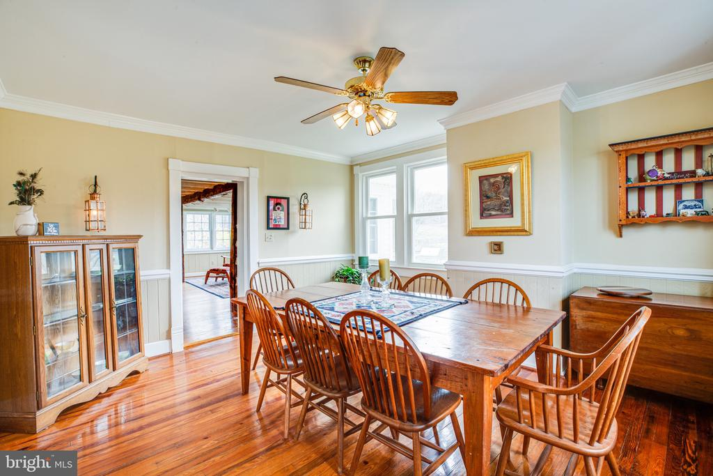 Dining room features side windows, too - 504 POPLAR RD, FREDERICKSBURG