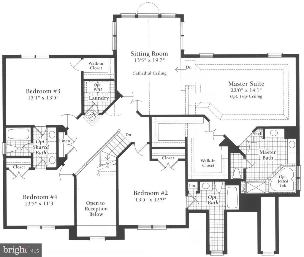 Floor Plan Upper Level - 14042 BLUE VIEW CT, LEESBURG