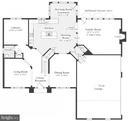 Floor plan Main Level - 14042 BLUE VIEW CT, LEESBURG