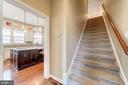 Two separate stairways leading upstairs! - 6204 BERNARD AVE, ALEXANDRIA