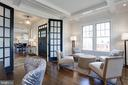 French doors at the den for privacy - 5010 25TH RD N, ARLINGTON