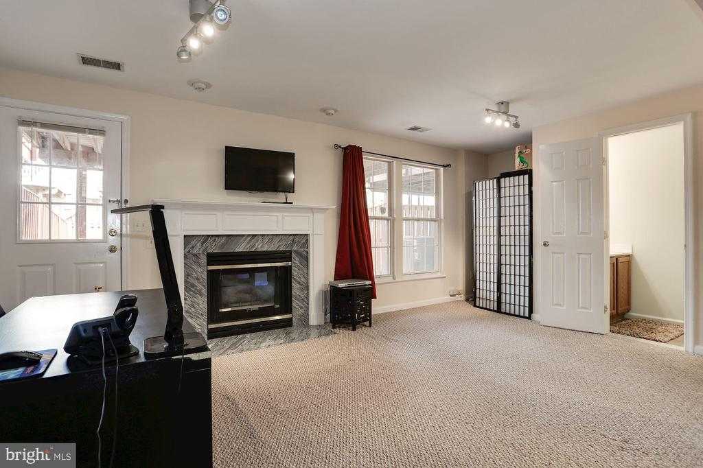 Basement with walk-out to backyard - 8110 MADRILLON SPRINGS LN, VIENNA