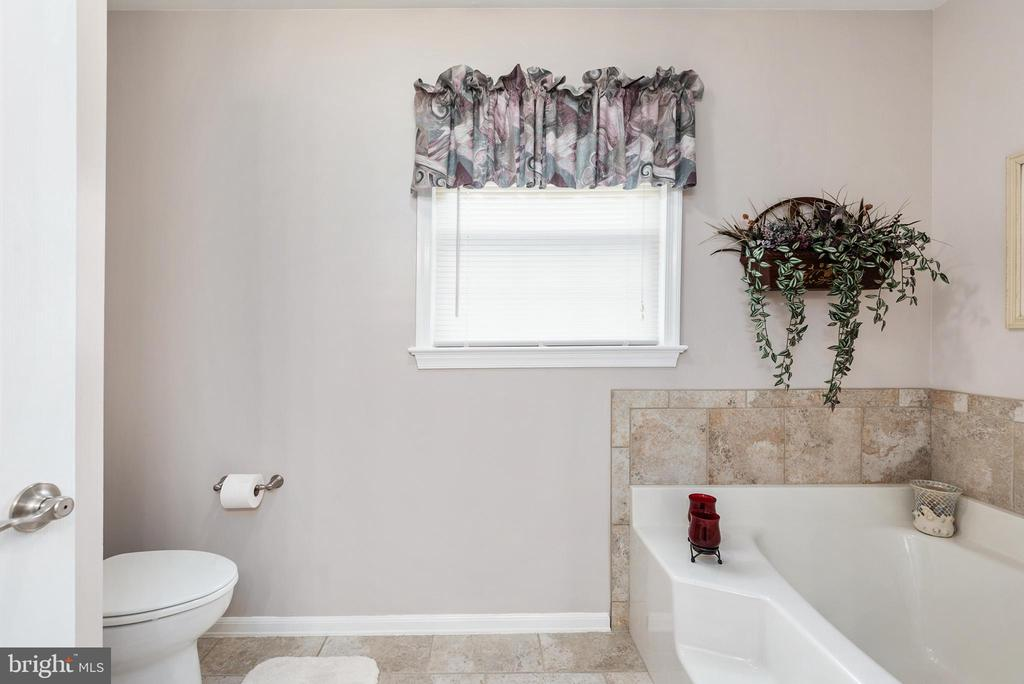 Master bathroom with separate soaking tub - 6 SPRING LAKE DR, STAFFORD