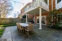 Rear patio - 4311 TORCHLIGHT CIR, BETHESDA