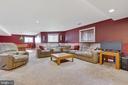 Large Rec Room on Lower Level with Natural Light - 21946 HYDE PARK DR, ASHBURN