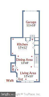 Main Level Floor Plan - 1308 RIBBON LIMESTONE TER SE, LEESBURG