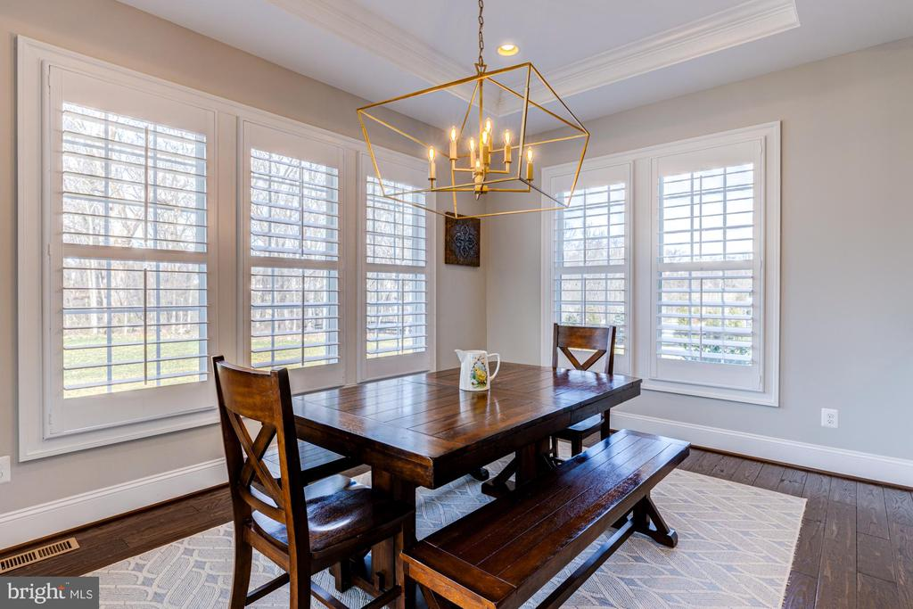 Enjoy amazing views of trees from breakfast room - 23065 CHAMBOURCIN PL, ASHBURN