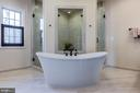 Pamper yourself in the spa-like owner's bath - 23065 CHAMBOURCIN PL, ASHBURN