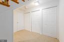 Lower level storage - 4311 TORCHLIGHT CIR, BETHESDA