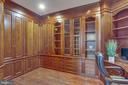 Main level office with custom build in cabinet - 18339 BUCCANEER TER, LEESBURG