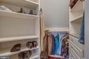 Master bedroom walk in closet - 18339 BUCCANEER TER, LEESBURG