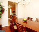 Dining Room Opens to kitchen - 25928 KIMBERLY ROSE DR, CHANTILLY