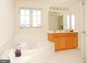 Master Bath with Soaking Tub - 25928 KIMBERLY ROSE DR, CHANTILLY