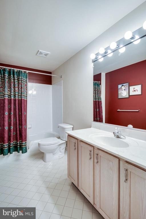 Full bath in basement - 13451 GRAY VALLEY CT, CENTREVILLE