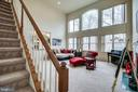 second staircase - 13451 GRAY VALLEY CT, CENTREVILLE