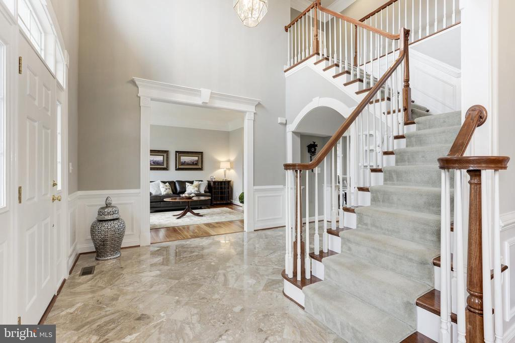 Grand Foyer with Marble Flooring - 43475 SQUIRREL RIDGE PL, LEESBURG