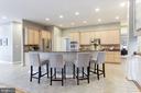 Expansive kitchen island - Plenty of Seating! - 43475 SQUIRREL RIDGE PL, LEESBURG
