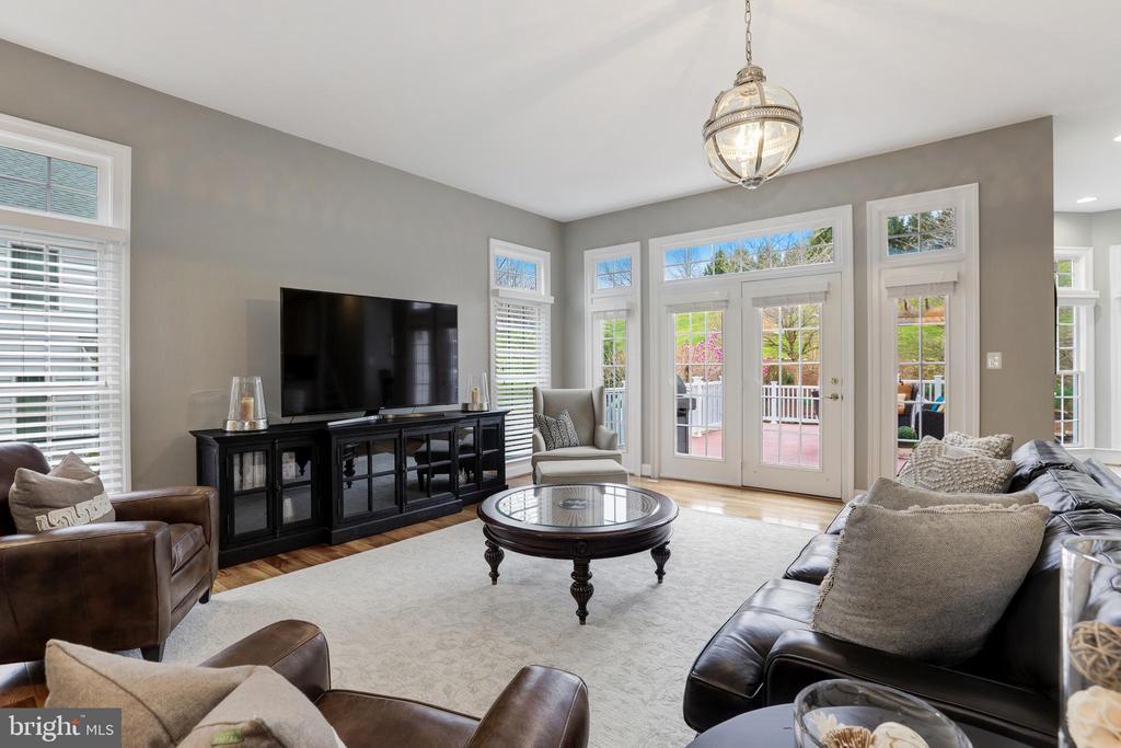 Family room leads to outdoor entertaining - 43475 SQUIRREL RIDGE PL, LEESBURG