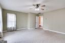 MAIN LEVEL BEDROOM  CORNER VIEW OF ENTRANCE DOOR - 7365 BEECHWOOD DR, SPRINGFIELD