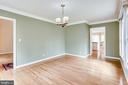 FORMAL DINING ROOM-TO FOYER OR KITCHEN DOORWAY - 7365 BEECHWOOD DR, SPRINGFIELD