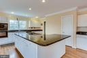 CLOSE UP OF KITCHEN ISLAND TO CHEFS PANTRY - 7365 BEECHWOOD DR, SPRINGFIELD