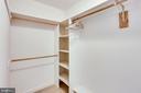 UPPER LEVEL REAR BEDROOM WALK IN CLOSET - 7365 BEECHWOOD DR, SPRINGFIELD