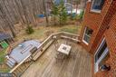 VIEW FROM UPPER LEVEL OVERLOOKING DECKS AND PATIO - 7365 BEECHWOOD DR, SPRINGFIELD
