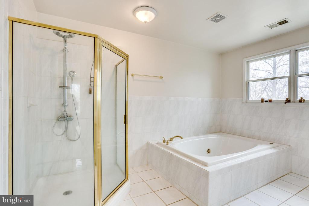 MASTER BATHROOM WITH SHOWER ENCLOSURE - 7365 BEECHWOOD DR, SPRINGFIELD