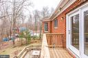 SIDE VIEW OF UPPER LEVEL BALCONY - 7365 BEECHWOOD DR, SPRINGFIELD