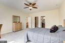 Large Bedroom  #2 with Full bath / Custom WIC - 11408 WOLFS LNDG, FAIRFAX STATION