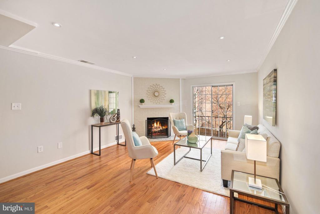 Spacious Living Room with 2nd  fireplace! - 3747 KANAWHA ST NW, WASHINGTON
