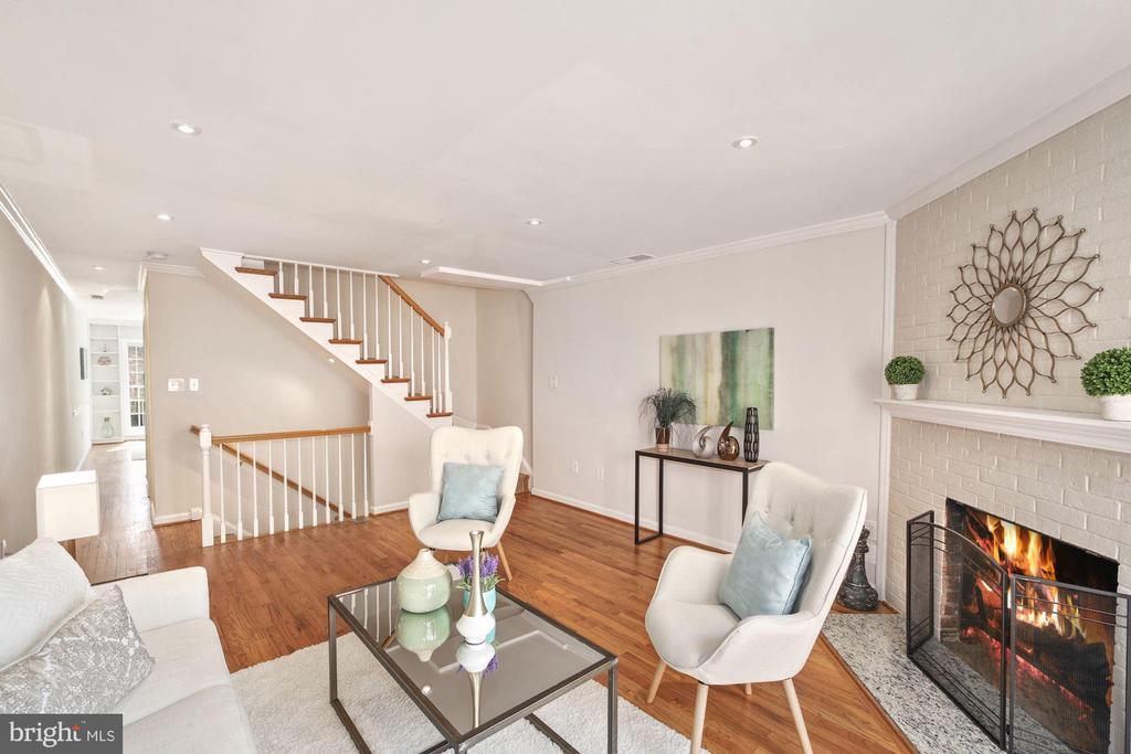 Living Room on 2nd level! - 3747 KANAWHA ST NW, WASHINGTON