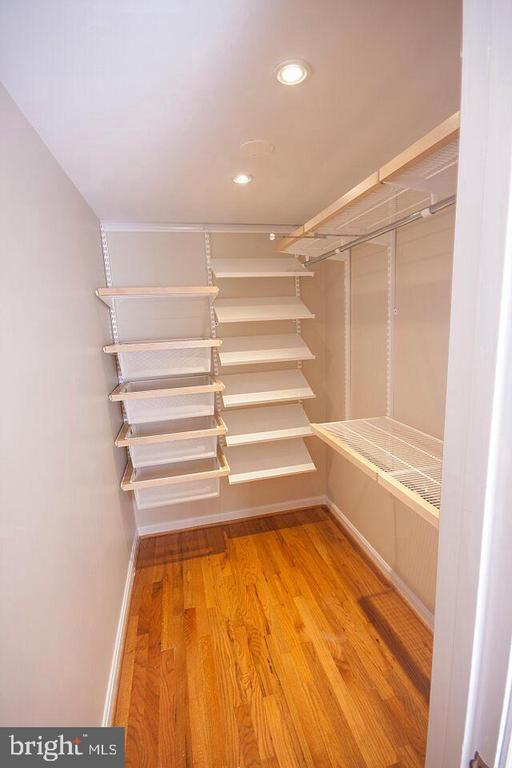 Master Bedroom walk-in closet w/ Elfa shelving! - 3747 KANAWHA ST NW, WASHINGTON