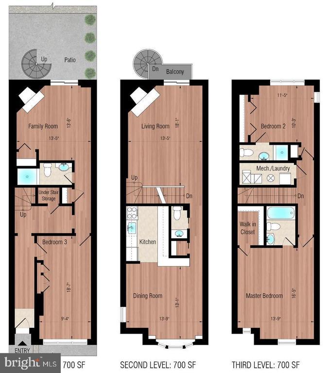 Layout floor-by-floor - 3747 KANAWHA ST NW, WASHINGTON