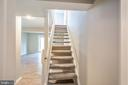 Basement Stairs - 3654 CASTLE TER #111-125, SILVER SPRING