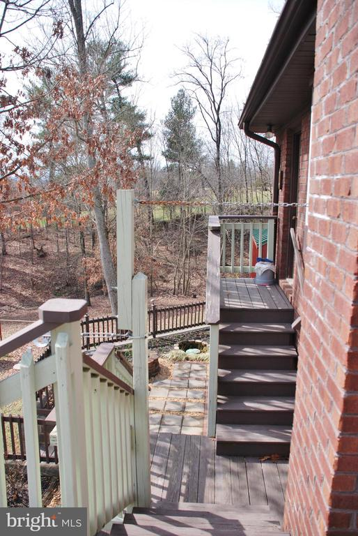 Stairs from laundry room to rear yard - 1318 LOCUST GROVE CHURCH RD, ORANGE