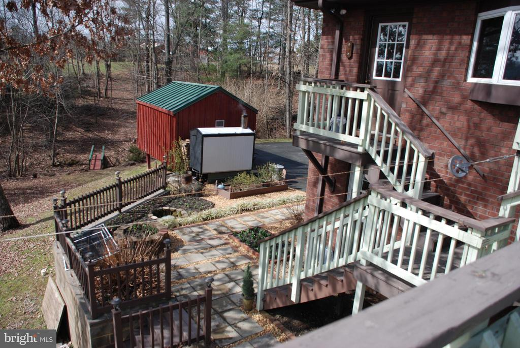 VIew from deck to side of house - 1318 LOCUST GROVE CHURCH RD, ORANGE