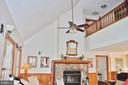 Cathedral ceiling in living room w/stone fireplace - 1318 LOCUST GROVE CHURCH RD, ORANGE